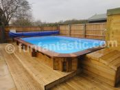 Plastica 6m x 3.8m Regent Wooden Rectangular Swimming Pool